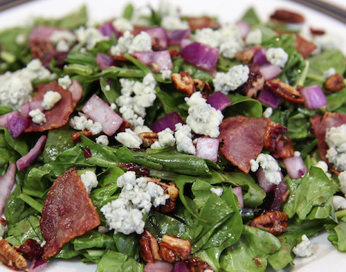 Spinach Salad with Raspberry Vinaigrette